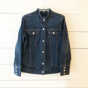 Gap Maternity Moto Denim Jean Jacket Medium